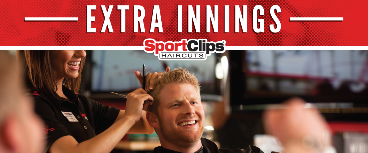 The Sport Clips Haircuts of Crossroads Plaza Extra Innings Offerings